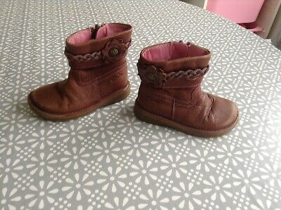 Girls Boots size 5 (22 ) infant Brown  leather CLARKS