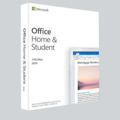 Microsoft Office 2019 Home und Student key Lifetime & Updates, Deutsch -windows