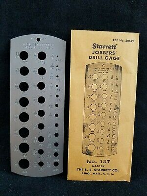 Starrett No.187 Jobbers' Drill Gage, Orig Envelope, NOS, Mint and Never Used!