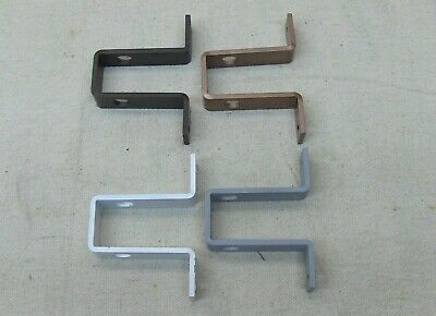 metal bracket mounting for vintage swing arm curtain rods, rods not included