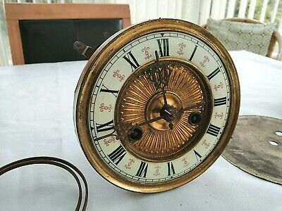 Vintage Ornate Clock Face & Movement-Pendulum-Clock Parts-Restoration Piece