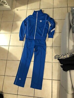 "sergio tacchini Full Tracksuit Size Medium 32"" Very Rare Original 80s"