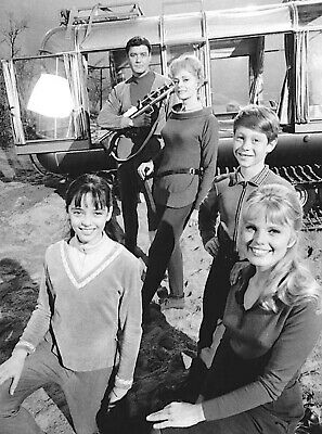1965's LOST IN SPACE b/w 8x10 family portrait & chariot