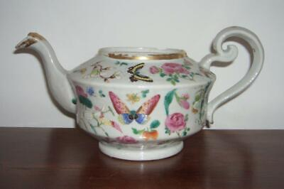 Good Chinese Famille Rose Porcelain Teapot (No Lid), Early 19Th Century, A.f.