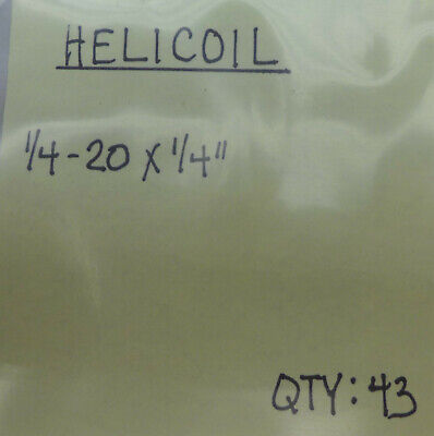 (43) Helicoil 1/4-20 X 1/4""