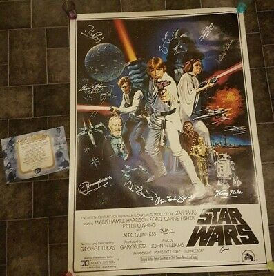 Star Wars a new hope Singed Poster