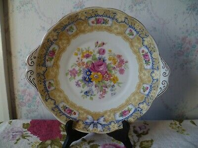 Vintage Royal Albert Crown China Cake or Sandwich Plate Valentine