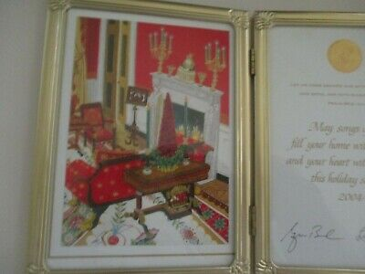 Official Hallmark White House Christmas Card President George Laura Bush signed