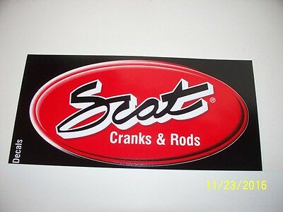 "ORIGINAL RACING DECAL  ""  Scat  Cranks  &  Rods  ""   1.75 "" x 3.50 ""    # 1"