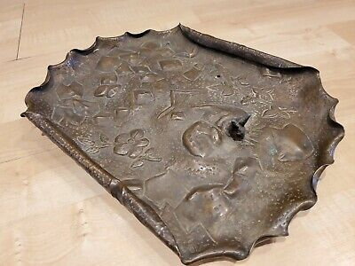 Decorative Brass Arts and Crafts Embossed Bunny Tray