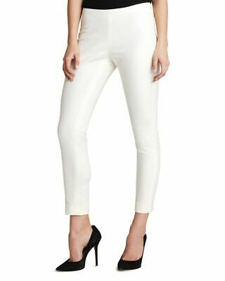 $367 Vince Camuto Women's Ivory White Skinny Fit Side Zip Dress Pants Size 10