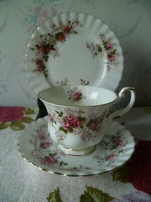 Vintage Royal Albert English China Trio Tea Cup Saucer Plate Lavender  Rose