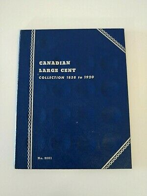 Whitman Canadian Large Cent Collection Album 1858 to 1920 Album Only NO. 9061