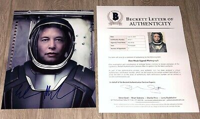 ELON MUSK SIGNED AUTOGRAPH TESLA SPACEX 8x10 PHOTO w/EXACT PROOF VERY RARE!