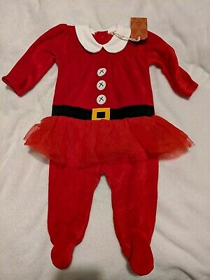 NEXT Baby girls Christmas all-in-one 3-6 months NEW