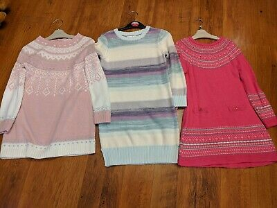 3  x Girls Knitted Dresses GAP, Strawberry Faire , Lulurain age 6 years