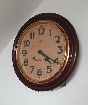 Antique Seikosha Railway wall clock