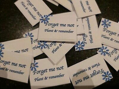 Forget me not Seeds for Funerals in miniature envelopes - 20 packs-3.75 cm x 2.5