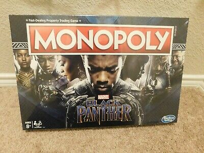 New Hasbro Gaming Marvel Black Panther Monopoly board game