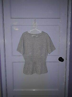 Girls New Look 915 Generation T Shirt Top  Age 10 - 11 Years Grey