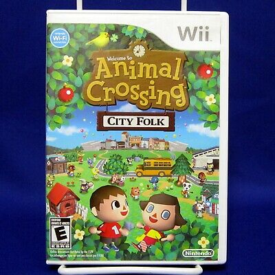 Animal Crossing City Folk Wii Nintendo 2008 Tested & Complete