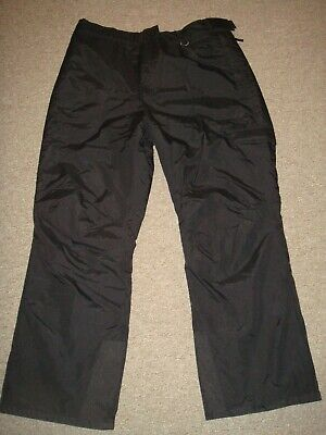 Slalom Ski Snowboard Pants Men Xxl Insulated Waterproof Black Winter Cargo Bibs