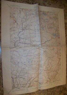 1901 Antique Lassellsville Ny Geology Map Geological Survey