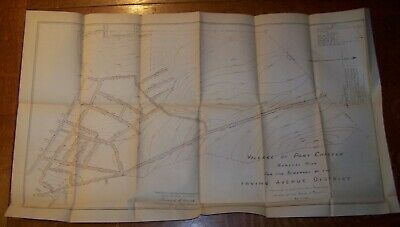 1899 Antique Village Port Chester Ny Sewer Map Irving Avenue District