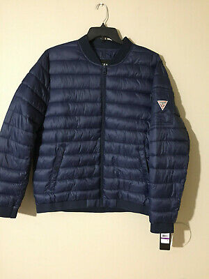 New Mens Dissident Verde Quilted Padded Zip Up Bomber Jacket Size S-XXL