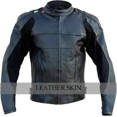 Bike Racing Leather Jacket with Free CE Armors and surprise leather gift