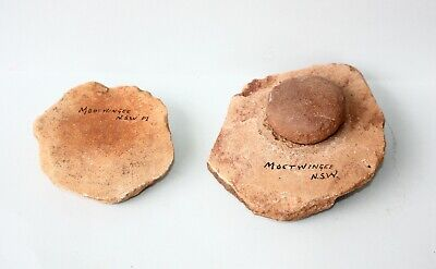Aboriginal - Pair Of Stone Grinding Dishes And A Muller. Nsw.