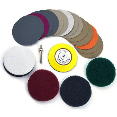 Polishing Set Sanding Disc Sandpapers Scouring Pads Sponge Cushion Repair Sets