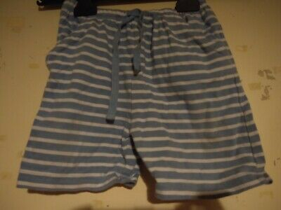 JoJo Maman Bebe Boys Blue And White Striped Shorts . Aged 12-18 Months