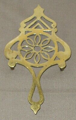 Fine Quality Ornate Antique English Brass Trivet In Good Condition
