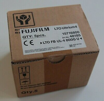 5 x 1600 GB FUJIFILM LTO Ultrium 4 Data Cartridges.