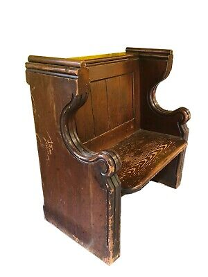 Solid carved Vintage Church Pew