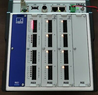 HBM PMX Data Acquisition System with WGX001 + PX878 + PX455 + PX455