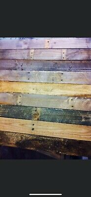 Rustic Reclaimed Timber Pallet Wood Cladding(mancave , Stairs , Gym ,shop)