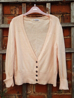 Marks & Spencer Autograph 100% Cashmere Pale Pink Short Cardigan (Size 14)