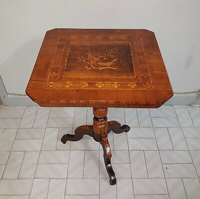 Original Antique Italian Rolino Sorrentino Inlaid Table From 1900