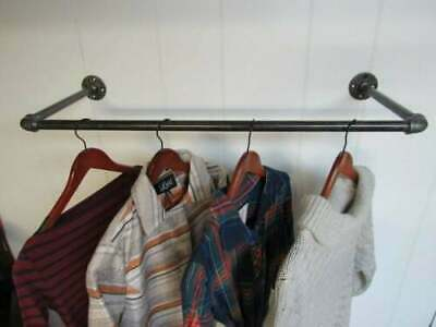 Wall Mounted Industrial Pipe Clothes Rail - Urban, Vintage, Steampunk!