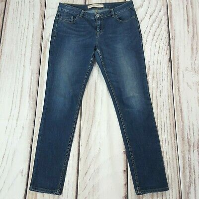 Ladies Relaxed Skinny Everyday Stretch Jeans Mid Blue Size 12 R