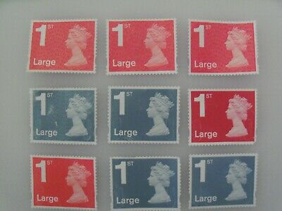 GB - 25 x 1st Large Class stamps Unfranked Stamps Off Paper Partial gum