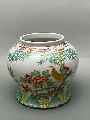 Antique Chinese Famille Rose Pot