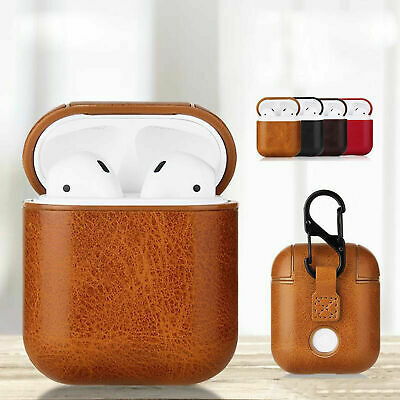 For Apple Airpods 1 2 1st 2nd Gen New Leather Soft Skin Case Earphones PU Cover