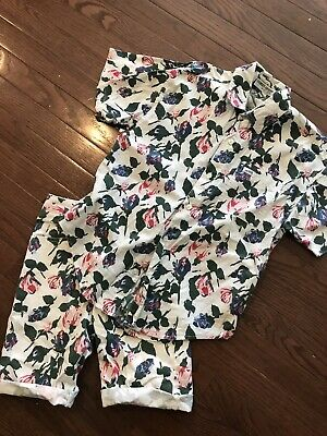 Georges Marciano For GUESS Vintage Girls Outfit Shorts Floral Blouse Size 8