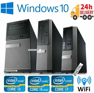 Fast Cheap Dell OptiPlex i3 i5 i7 MT Desktop SFF 8GB 500 Windows 10 PC Computer
