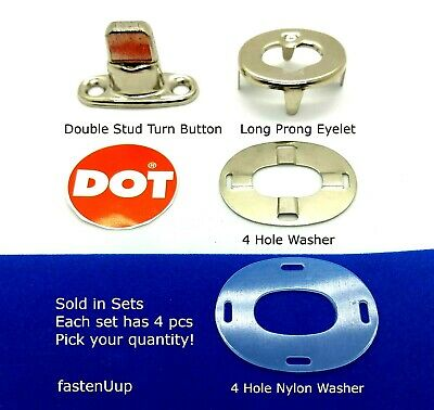 Eyelet Prong Grommet and Washer Plate for TWIST Fasteners 12 sets