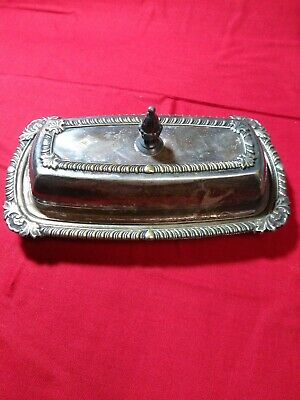 Vintage Silver Plated Ornate Butter Dish With Lid Sheets RS CO 1875 silverplate