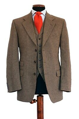 Chester Barrie Savile Row Three Piece Tweed Shooting Hunting Suit 42 52 R €1745